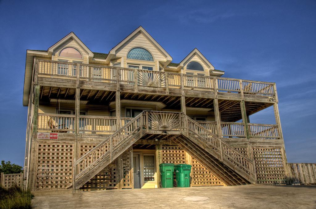 At the beach house in north carolina at the outer banks for Beach house plans outer banks