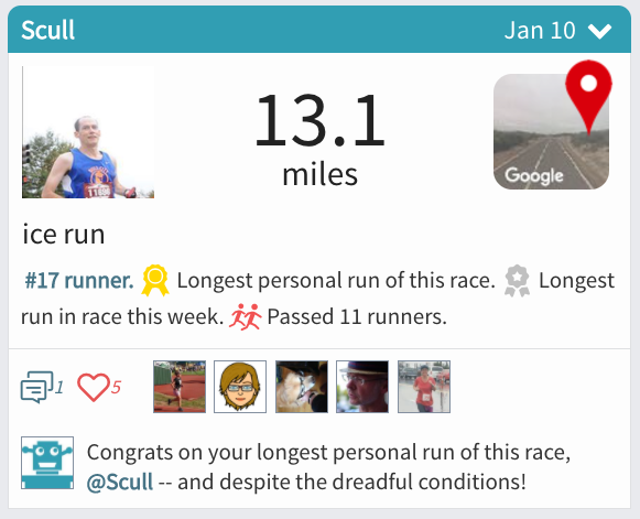 45 Mile Achievement by Scull