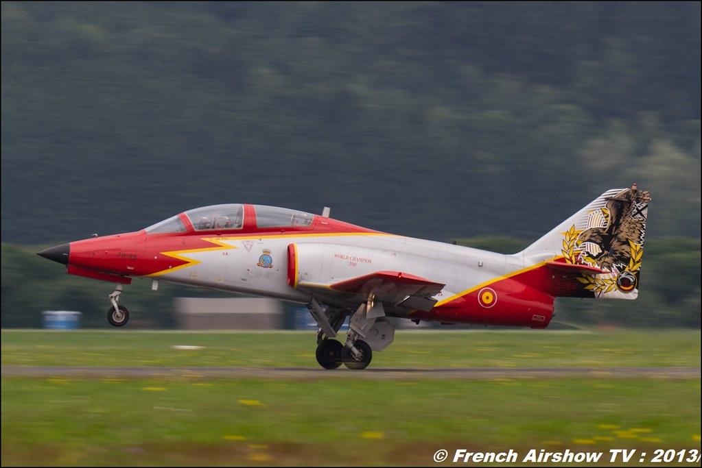 Patrulla Águila , Patrouille Aguila , patrouille d'Espagne , Ejército del Aire , CASA C-101 , AIRPOWER13 , Zeltweg , Austria , airpower 2013 Zeltweg