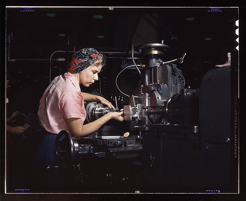 Woman machinist, Douglas Aircraft Company, Long Beach, Calif.  (LOC) | by The Library of Congress
