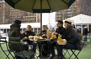 Lunch in Bryant park | by tomdz
