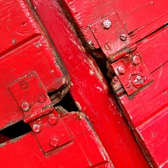Red hinges | by tina negus