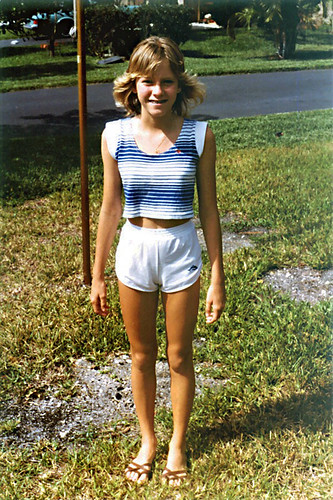 Neighborhood Girl Posing, 1983  Actually The Friend Of A -5945