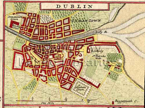 Moll\'s Map of Dublin | Title: Moll\'s Map of Dublin Year: 171… | Flickr