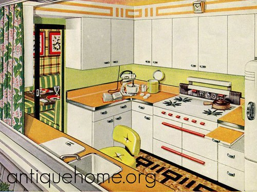 1940s kitchen design 1940s house plans daily bungalow for Bungalow kitchen layout