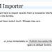 III Importer Welcome Screen