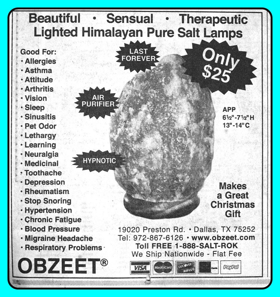 Problems With Salt Lamps : T^he Amazing OBZEET Light Lasts Forever Air Purifier Hypno? Flickr