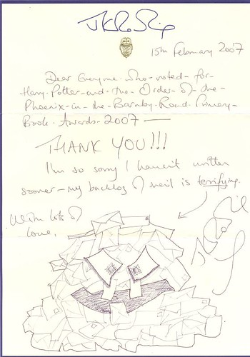 JK Rowling Letter | Why am I receiving correspondence from t ...
