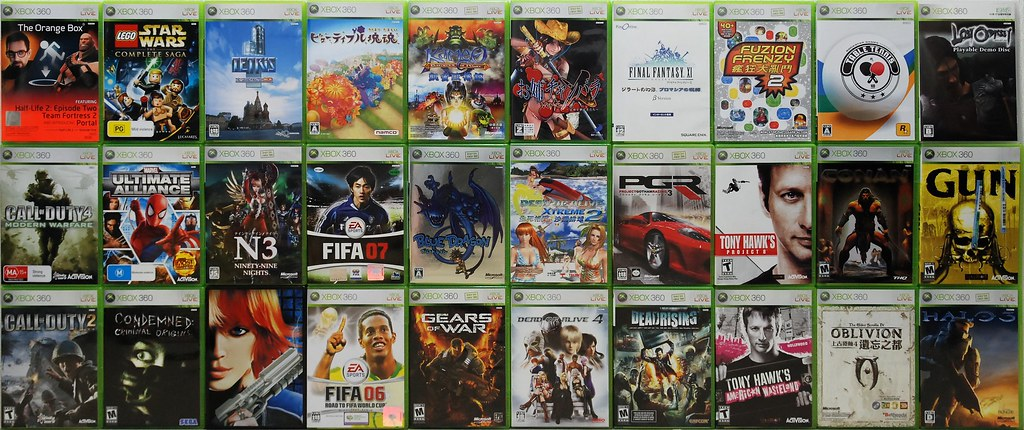 My Xbox 360 Games Collection April 2008  Wow, Writing A -2880