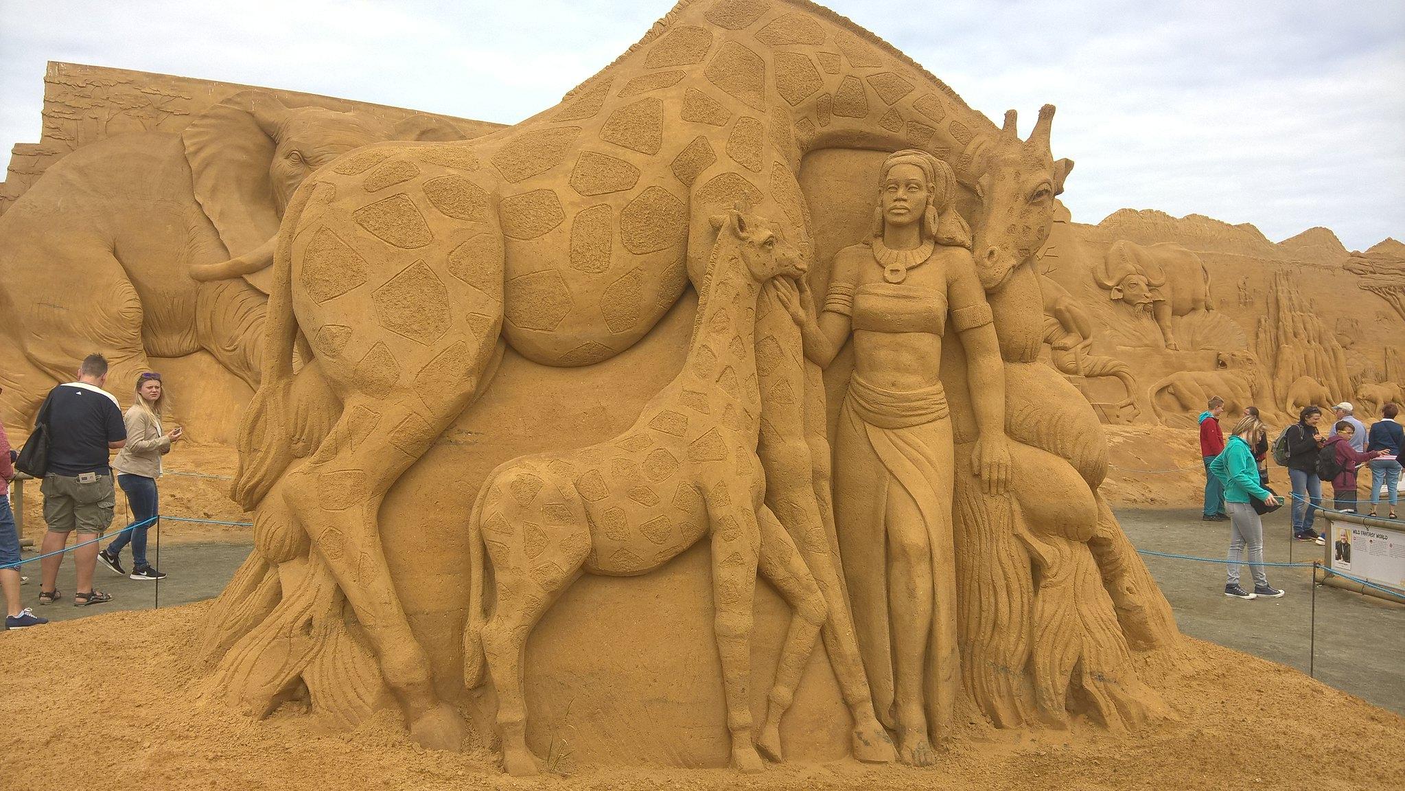Sandskulpture Festival Sondervig, Danmark 2016