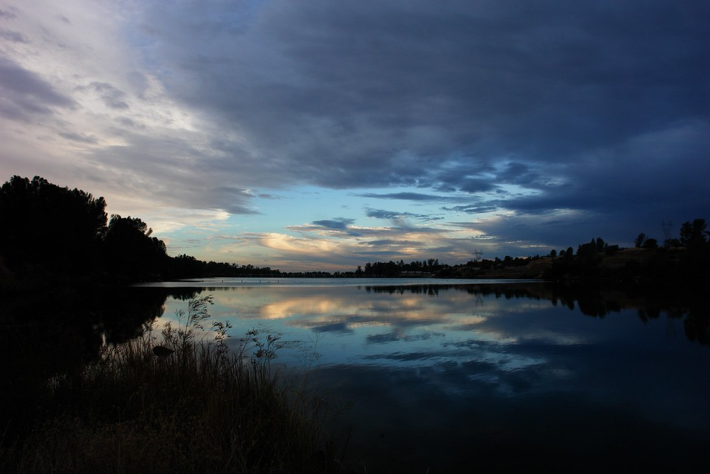 Feather river oroville california view at dusk of the for Feather river fishing