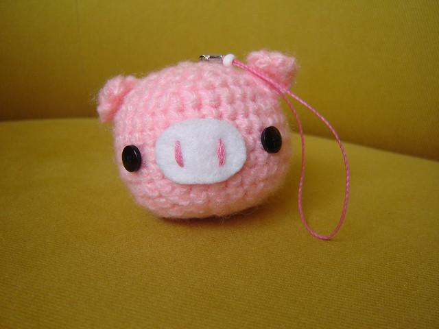 Amigurumi Pig : Amigurumi Pink Pig Chaveiro! Com cheirinho de Baunilha ...
