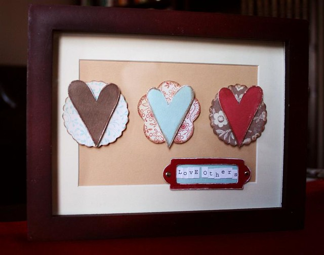 Love Others Shadow Box Frame Target Chipboard Circles De Flickr