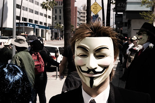 Anonymous Hollywood Scientology protest | by scragz