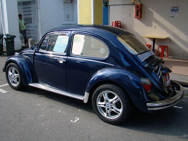 metallic dark blue VW beetle bug III | lash tan | Flickr
