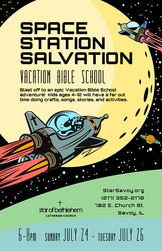 Space Station Salvation VBS Flyer | by lumavine