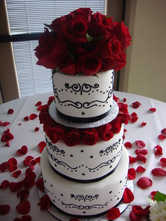 black and white cake black scroll wedding cake three tier fondant cake with 1813