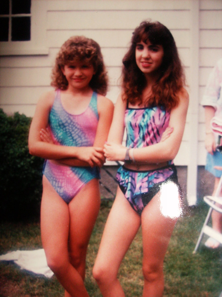 80S Bathing Suit Ladies  Its Ok - You Can Laugh That -9564