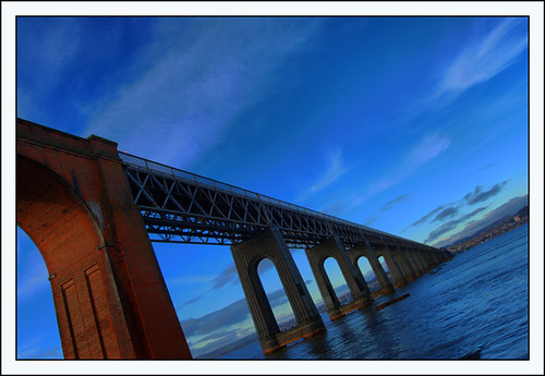 Tay Rail Bridge - Blue View From the Fife Side | by Magdalen Green Photography