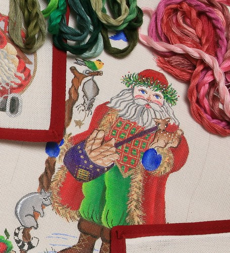 needlepoint santa | by ericahd