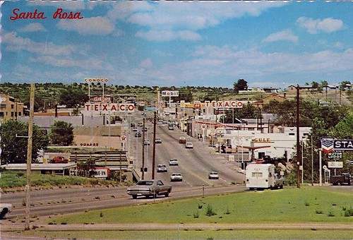 Santa Rosa Nm Ca 1970 Route 66 Through Santa Rosa Nm