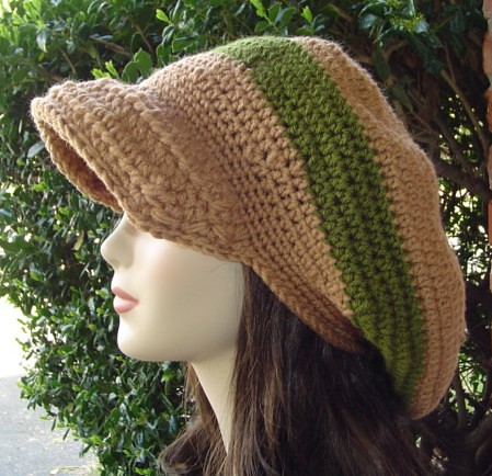 Newsboy Hat Style Dreadlock Tam With Visor Handcrafted Lar Flickr