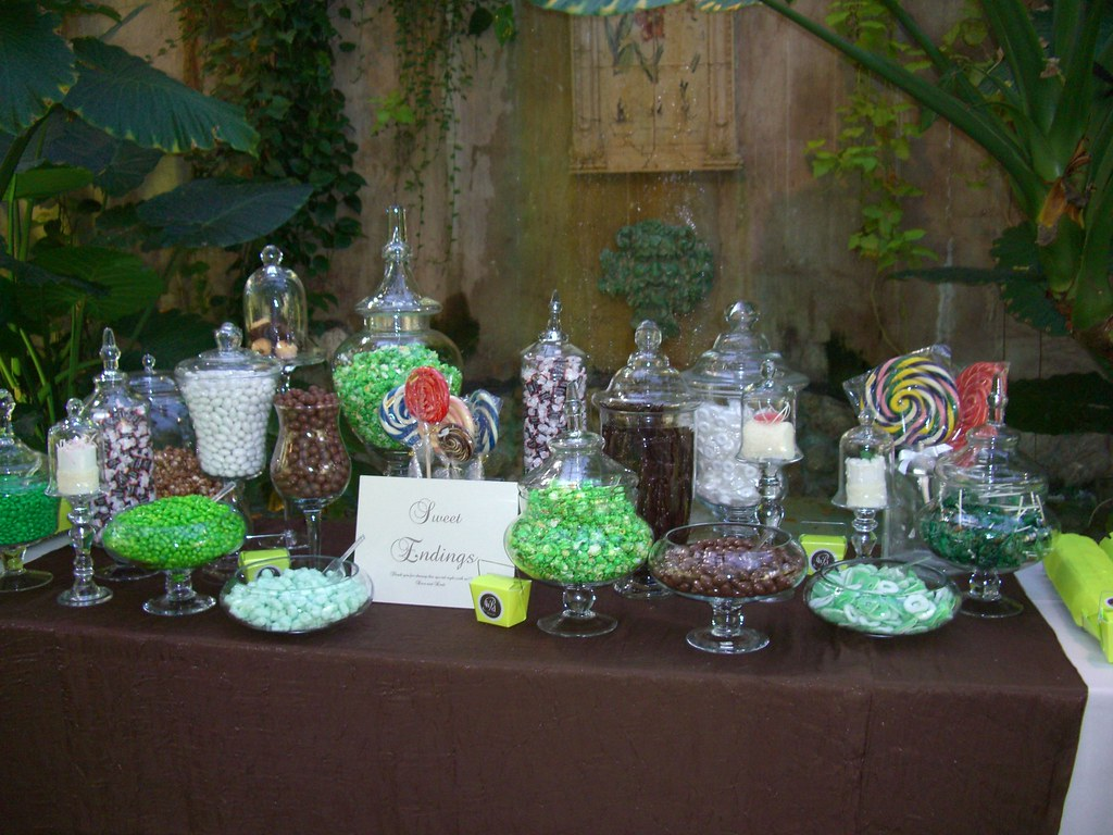 Lime Green and Brown Candy Buffet   Lisa Runolfson   Flickr