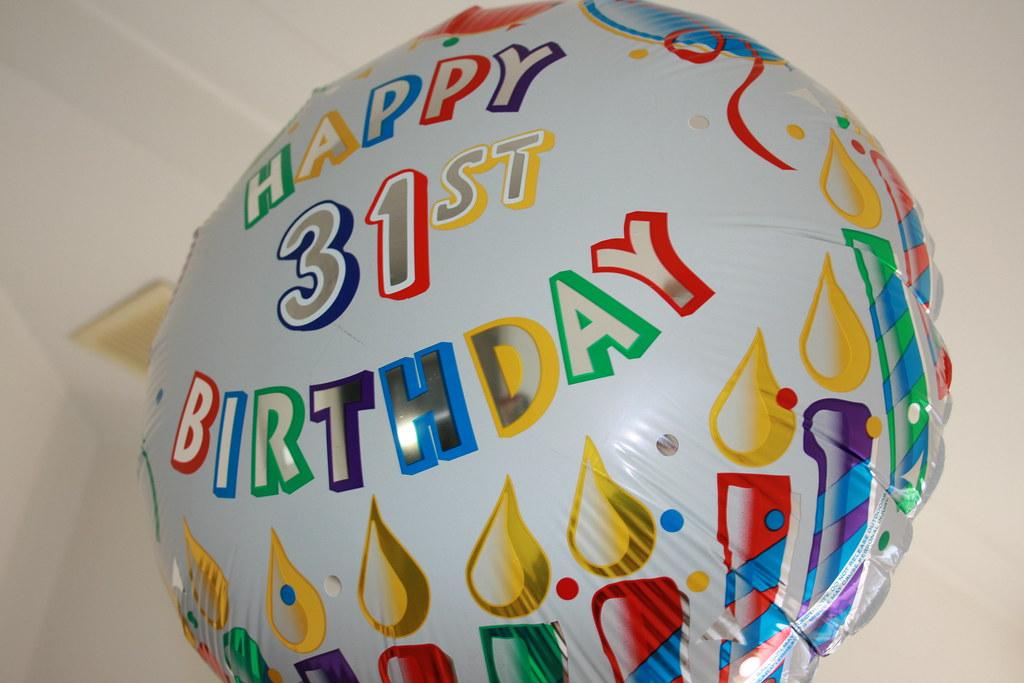 Поздравление днем рождения 31 год