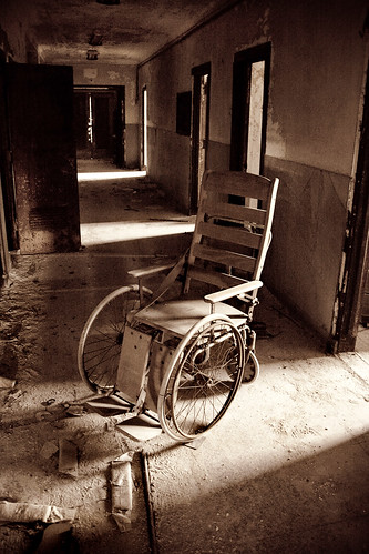 Abandoned Sea View Hospital Wheelchair Edit This Was