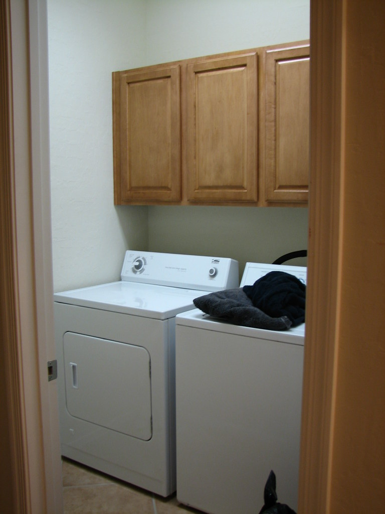 Laundry Room White Wall Cabinets