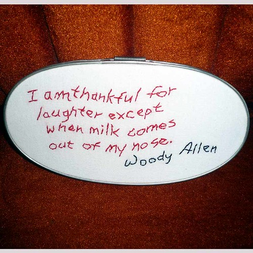What Woody Allen's thankful for | by Peg Grady