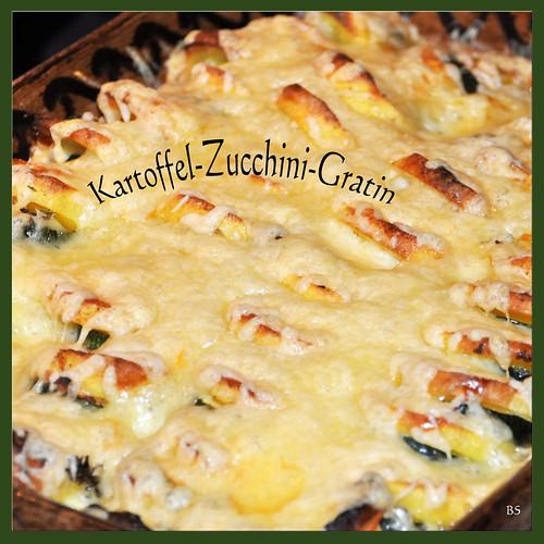 Chefköchin Karla Kunstwadl empfiehlt: Kartoffel-Zucchini-Gratin ... Foto: Brigitte Stolle, Mannheim