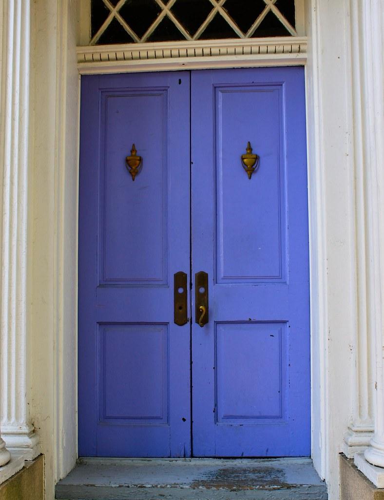Purple Front Door Residential Front Door In Downtown