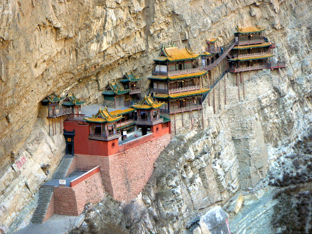 hanging temple china
