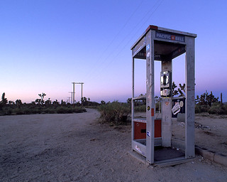 sunrise. mojave phone booth. 2000. | by eyetwist