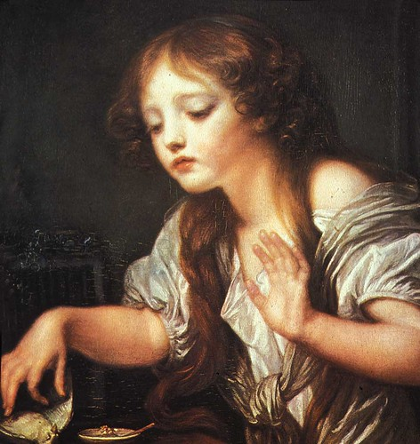 Young Girl Weeping for her Dead Bird - Jean-Baptiste Greuze, 1759 | by rosewithoutathorn84
