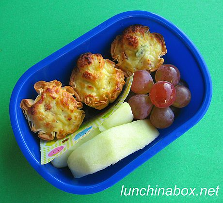 Mini quiche bento lunch for preschooler | by Biggie*