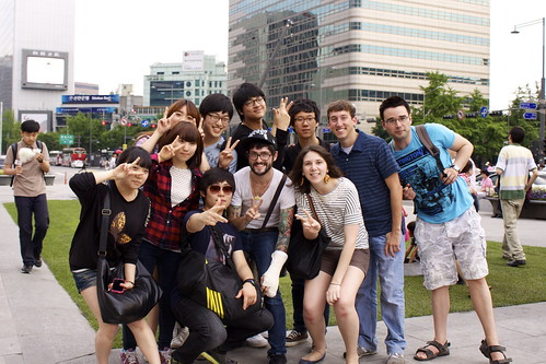Group photo with some awesome Korean university students | by seafaringwoman