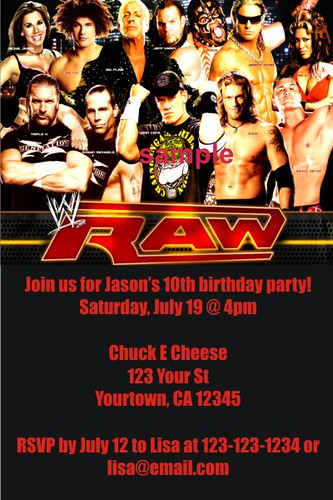 personalized wwe wrestling invitations