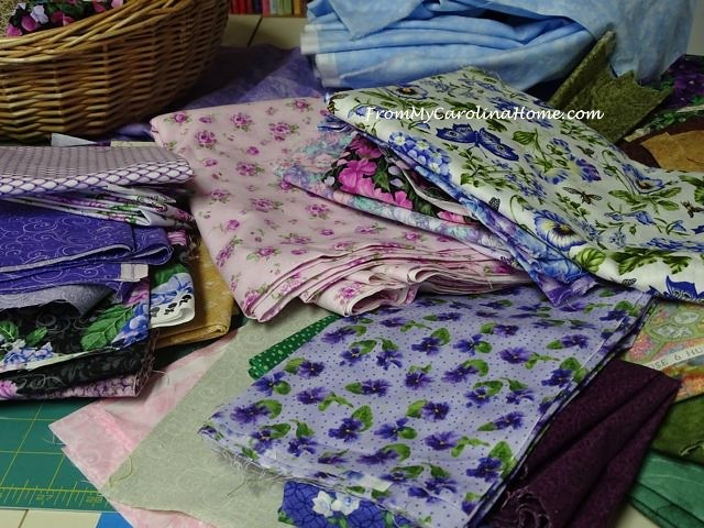 Purple and Pink Fabrics