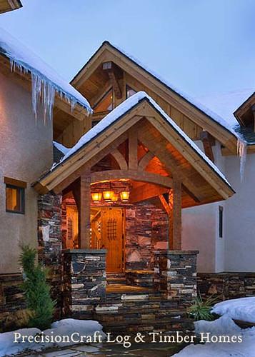 Exterior Entrance Of A Timber Home Custom Design By Pr