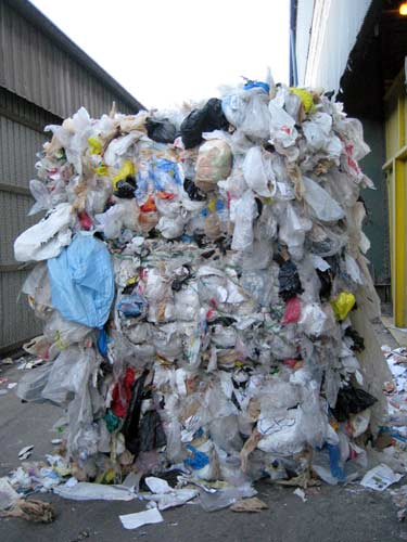 Plastic Bag Bail At Allied Waste A 1700 Pound Bail Of