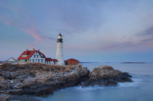 Portland Head Light After Sunset | by brentdanley