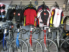 Road bikes and apparel
