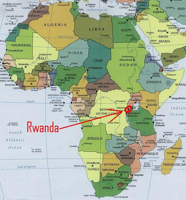 Africa Map 3 - Rwanda | Team Berryman | Flickr