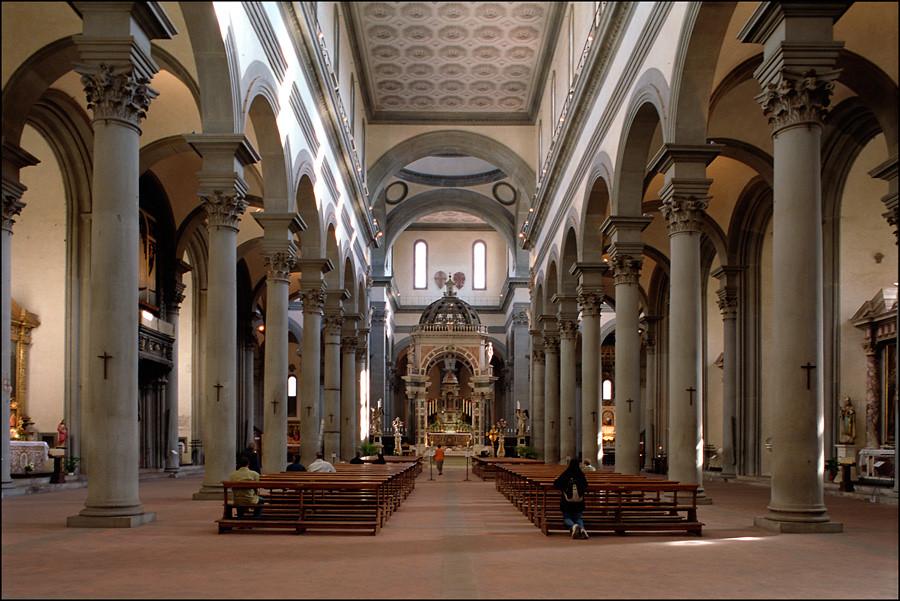 Santo spirito firenze c393 22 10 05 2008 firenze for Interior iglesia san lorenzo brunelleschi