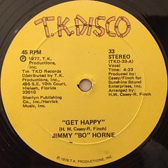 JIMMY BO HORNE:GET HAPPY(LABEL SIDE-A)