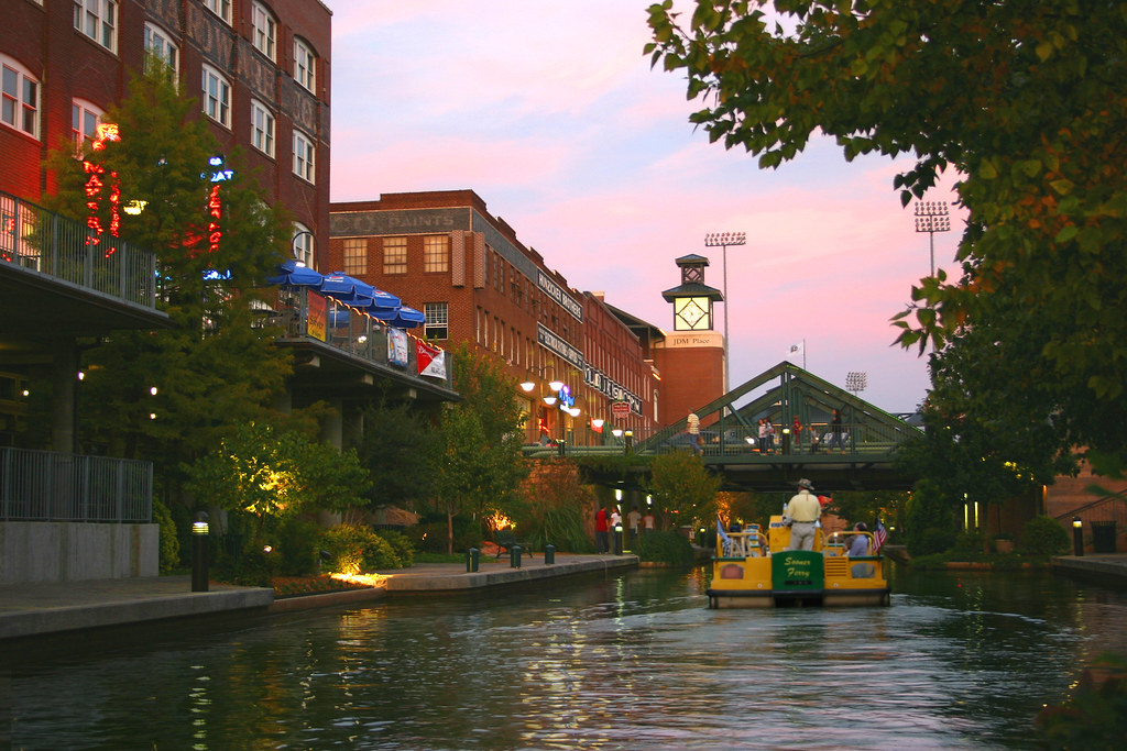 Bricktown Sunset From A Water Taxi On The Bricktown Canal Flickr