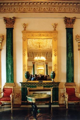 russia   st petersburg   peterhof palace interior