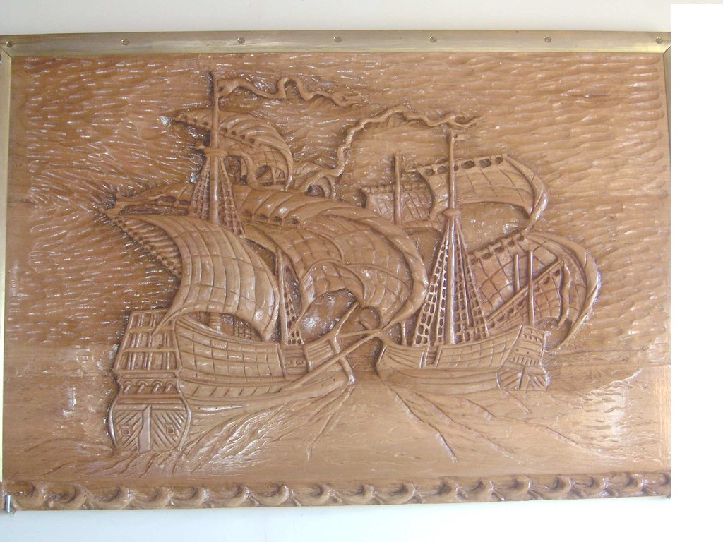 Wood carving my favorite large sailing